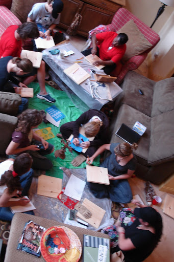 Small group at my house creating