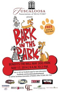 First Annual BARK in the PARK by the Tuscaloosa Realtors Association